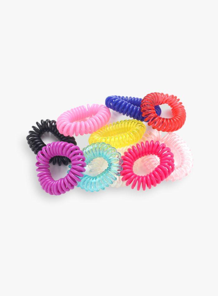 Elastici capelli a spirale colorati 6 pezzi