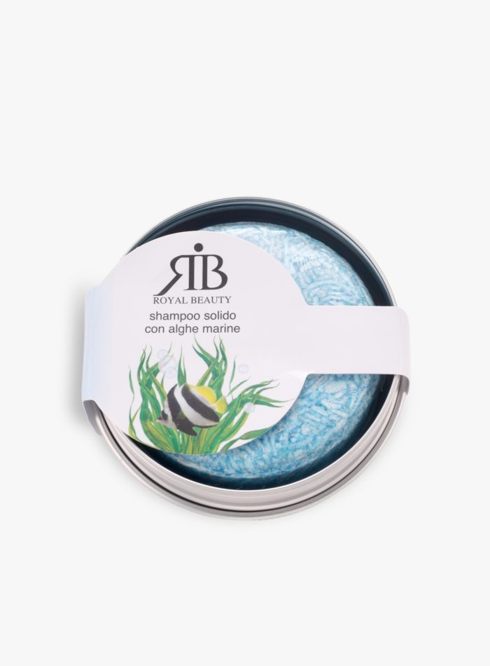 Shampoo solido con alghe marine